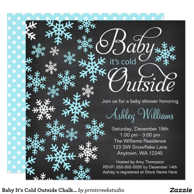 102 best winter baby shower ideas images on pinterest winter baby baby its cold outside chalkboard blue baby shower card filmwisefo