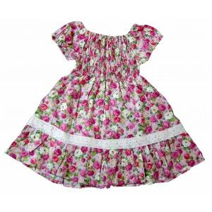 Pink Floral Toddler Dress
