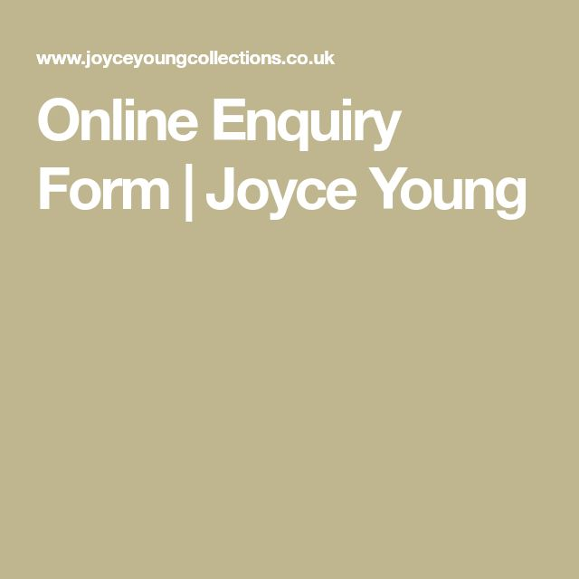 Online Enquiry Form | Joyce Young