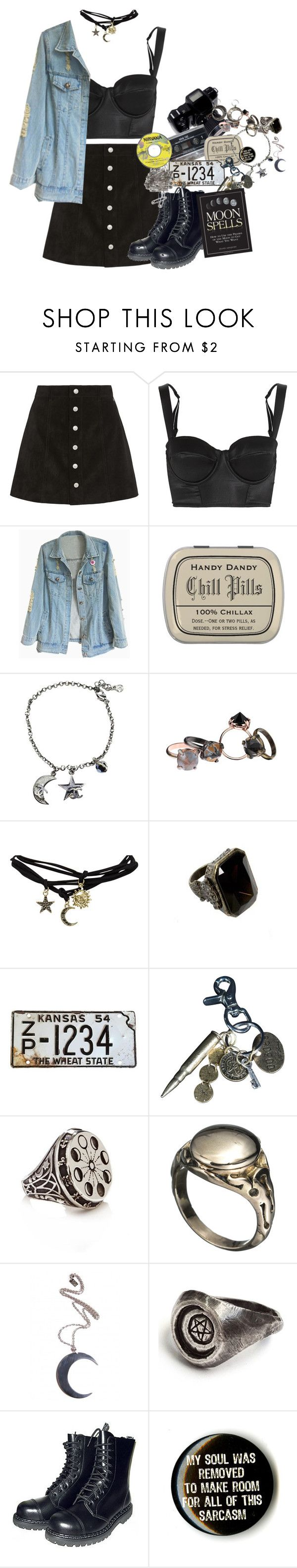 """""""i dunno number 569"""" by monsterorcoffee ❤ liked on Polyvore featuring AG Adriano Goldschmied, I.D. SARRIERI, Chanel, Made Her Think, Wet Seal, AllSaints, MANIAMANIA, Alexis Bittar, Disturbia and T.U.K."""