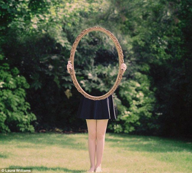 Vanishing act: Student Laura Williams playing tricks on the eye with her captivating series of photographs