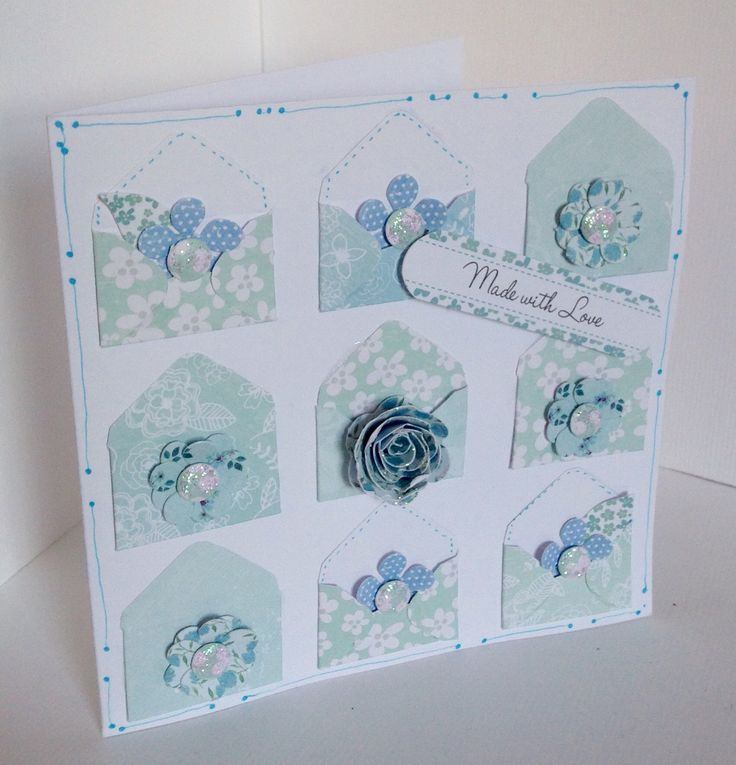 Beautiful card created by Phillipa Lewis using the Serenity collection.