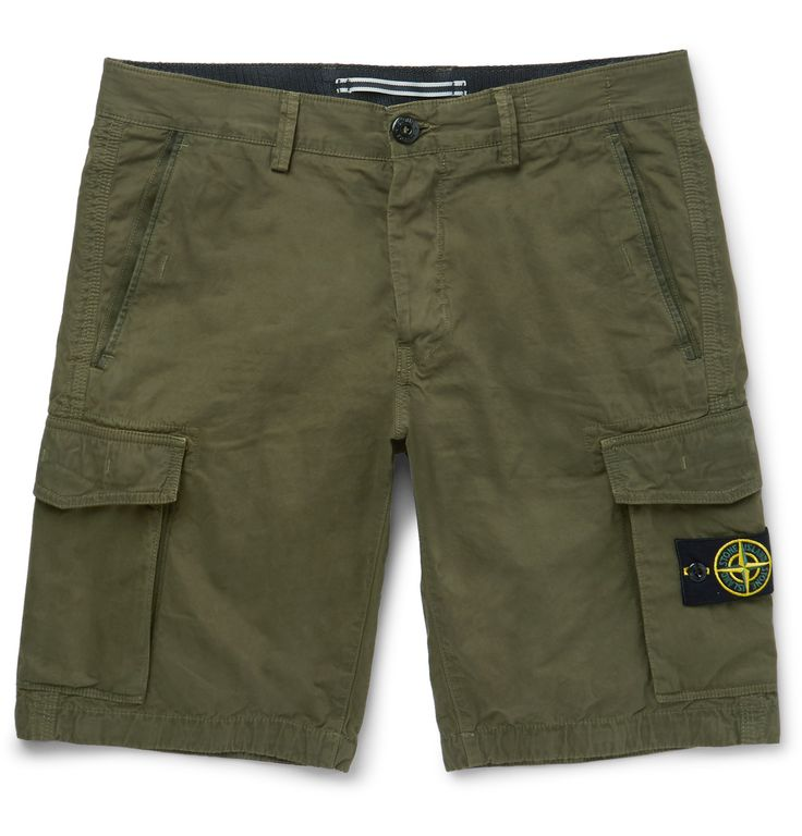 For more than 30 years, Stone Island's military-rooted designs have been a mainstay of urban cool. These cargo shorts are made from durable cotton and cut in a relaxed Bermuda-style straight leg. Swap your jeans for this multi-pocketed pair for casual looks on balmier days.