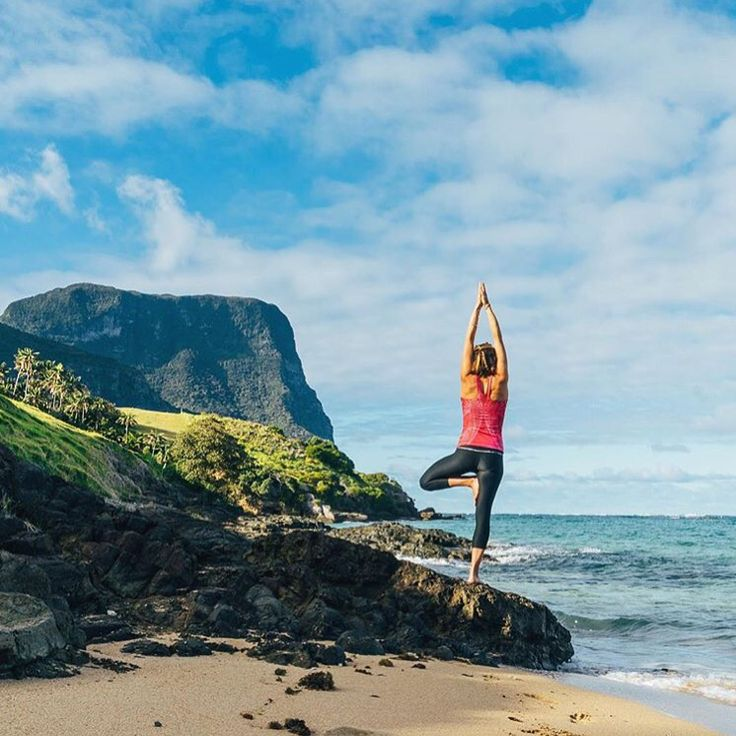 Yoga away in Lord Howe Island via jewelszee.