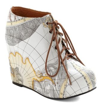 Map Print Wedges | 36 Crazy Fashion Pieces You Can Actually Buy