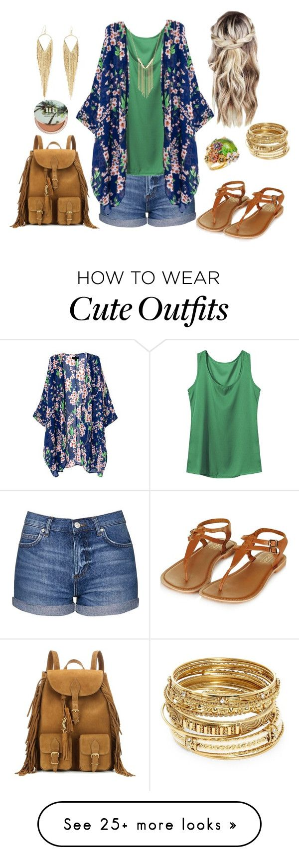 """""""Cute Outfit!"""" by jamielojordan on Polyvore featuring Topshop, ABS by Allen Schwartz, Gemelli, Kenneth Jay Lane, Jules Smith, Yves Saint Laurent and Urban Decay"""
