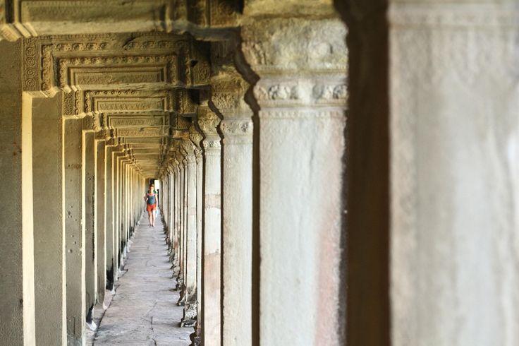 Corridors inside Angkor Wat.