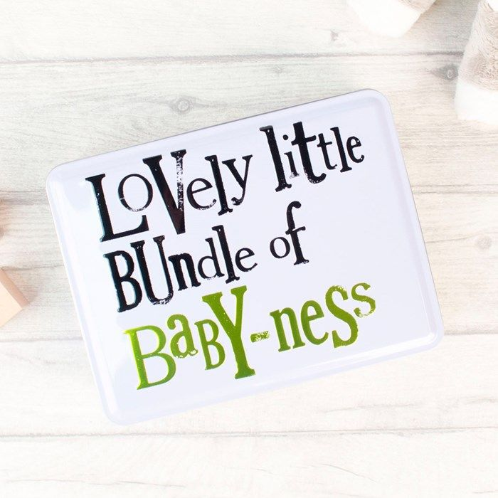 Lovely Little Baby Gift Set Tin | GettingPersonal.co.uk