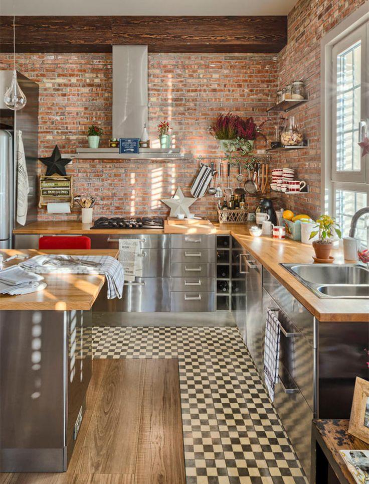 17 cozinhas apaixonantes do estilo industrial - limaonagua