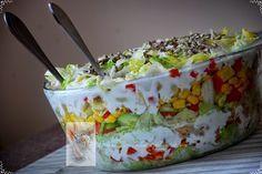 kuchnia w czekoladzie: Sałatka warstwowa z pierożkami tortellini
