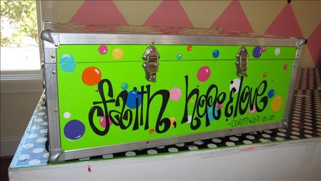 camp footlocker trunk personalization decoration