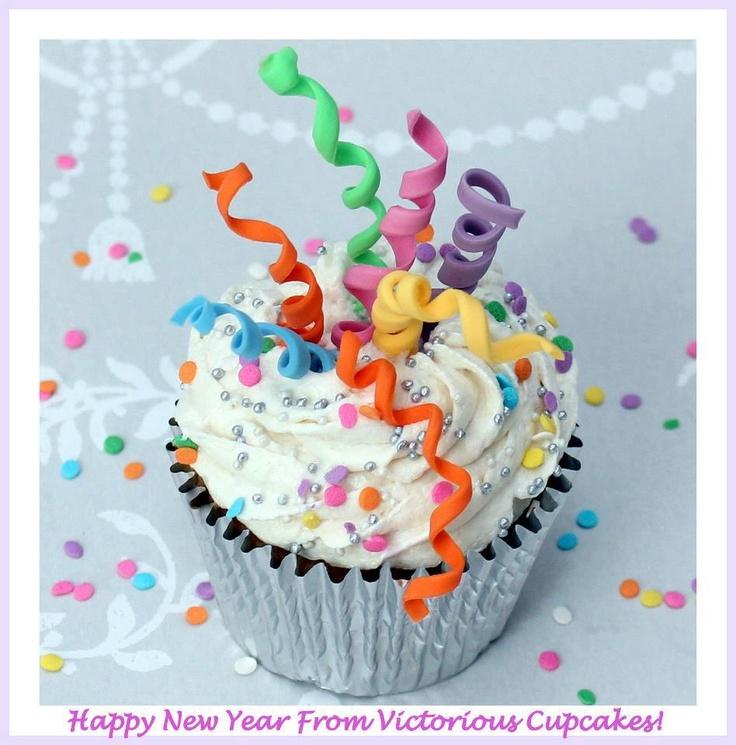 NEW YEAR CUPCAKES <3 CUPCAKES DE AÑO NUEVO cute idea  GLORIA :)