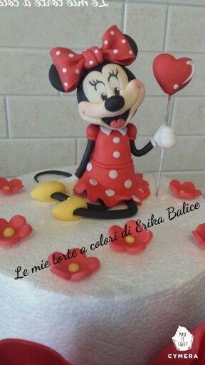 #minnie fondant #topolina #le mie torte a colori di Erika Balice