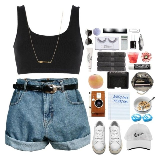 """""""Nothing matters"""" by emcolos on Polyvore featuring Retrò, adidas Originals, Acne Studios, NIKE, LØMO, NARS Cosmetics, Christy, Esperos, Chapstick and Essie"""