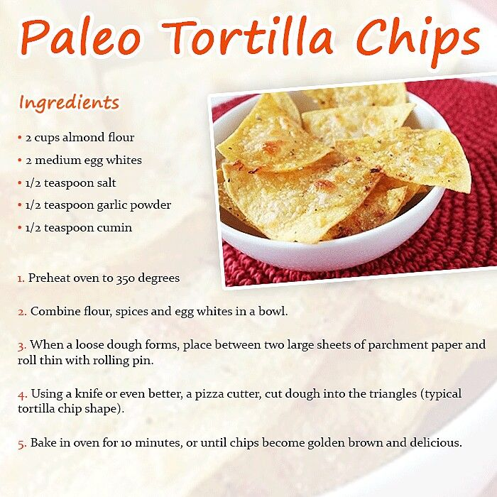 Paleo Tortilla Chips. I hope these wouldn't hurt my tummy the way normal tortilla chips.