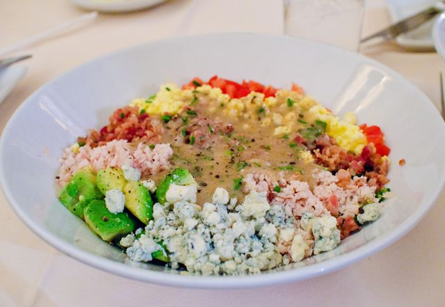 The world famous Hollywood Brown Derby Cobb Salad at Walt Disney World!