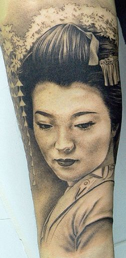 Geisha tattoo by XAVIER GARCÍA BOIX