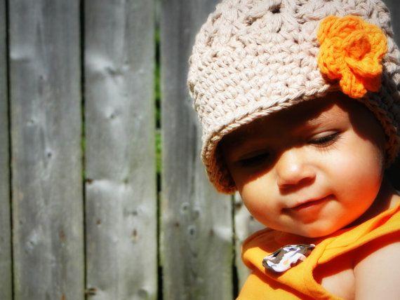 Sombrero del bebé del ganchillo sombrero de los por JuneBugBeanies