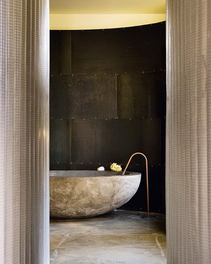 LOVE this bathroom and the use of utilitarian marine ply lining