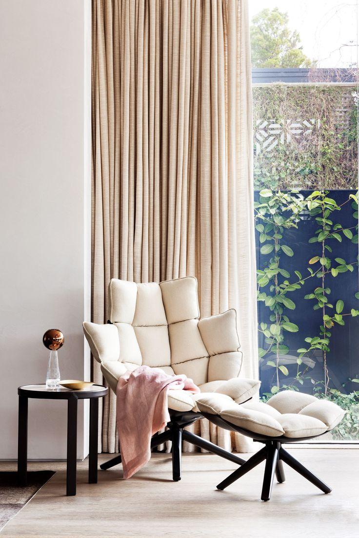 "'Husk' chair by Patricia Urquiola for [B&B Italia](http://www.bebitalia.com/en/ target=""_blank"")."