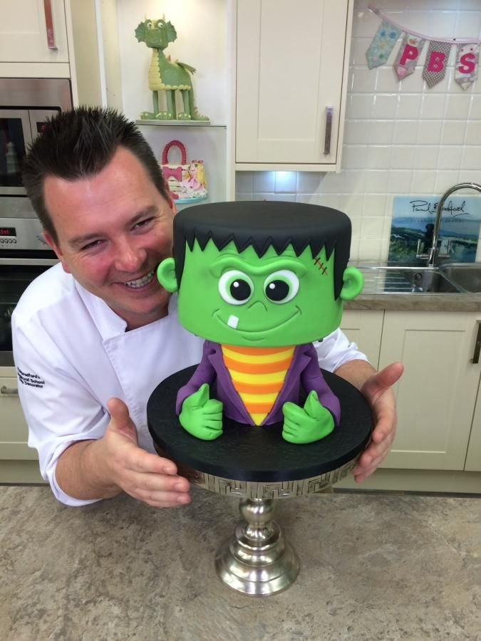 Halloween Wee Frankie - Cake by Paul Bradford Sugarcraft School