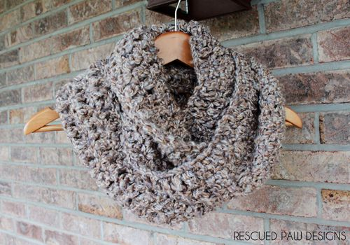 Simple Double Crochet Scarf Pattern :: Rescued Paw Designs