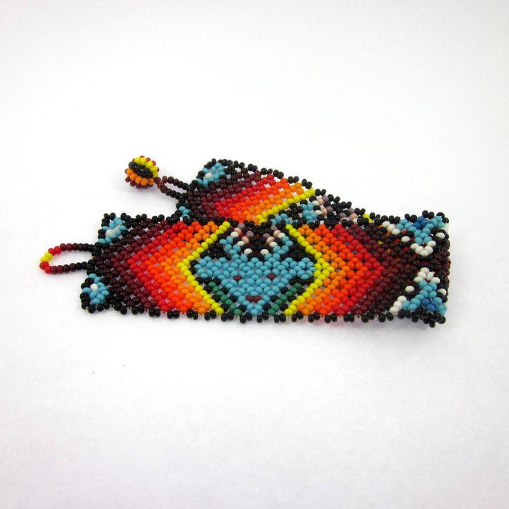Men's Bracelet, Peyote Cactus Jewelry, Peyote Seed Stitch Bracelet, Mexican Jewelry by LeviathanJewelry on Etsy #mensbracelet #peyote #peyoteseedstitch #mensjewelry