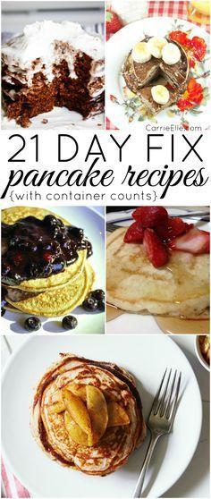 21 Day Fix Pancake Recipes