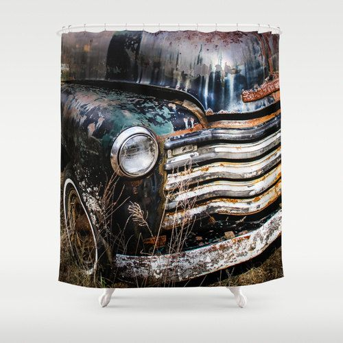 Old Truck Shower Curtain Chevy Vintage By PausePhotography On Etsy