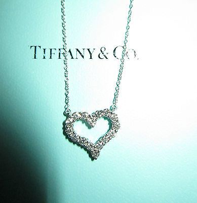 Tiffany & Co. Platinum Diamond Heart Necklace