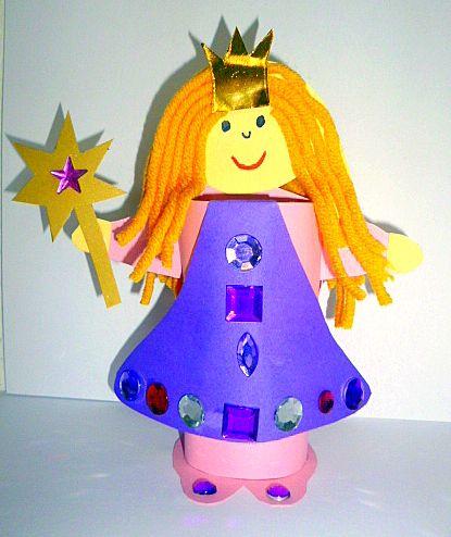 Prinzessin aus Toilettenpapierrolle - Fasching-basteln -Made with schwedesign.de