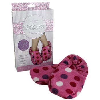 Pink Microwave Heated Slippers