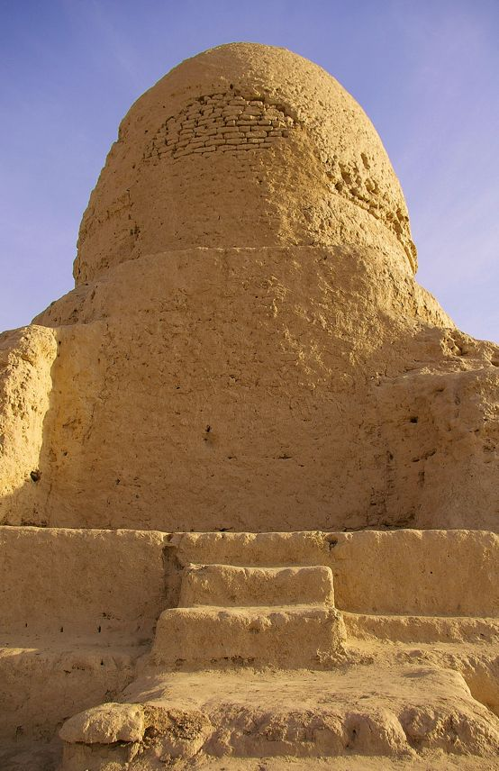 Mor Stupa, and ancient historic site in the desert north of Kashgar.