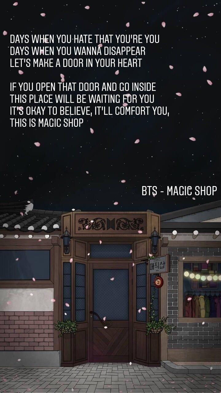 Bts Magic Shop Bts Lyrics Quotes Bts Quotes Bts Bts lyrics wallpaper magic shop