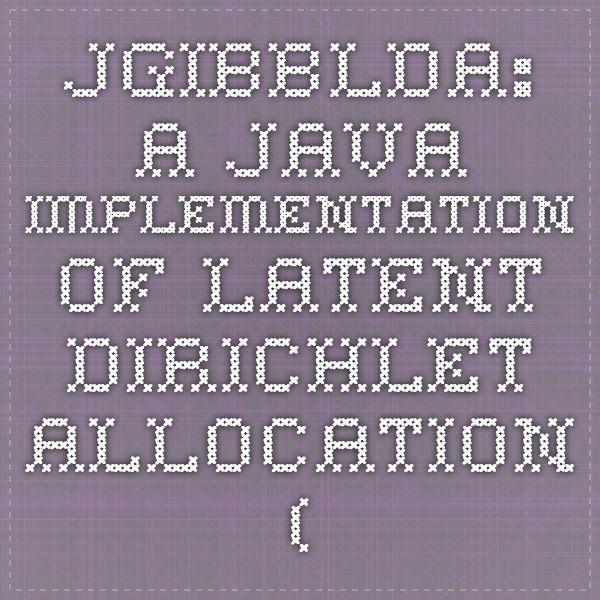 JGibbLDA: A Java Implementation of Latent Dirichlet Allocation (LDA) using Gibbs Sampling for Parameter Estimation and Inference