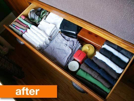 Have a more organized monday 5 tips for tidying your for T shirt drawer organization