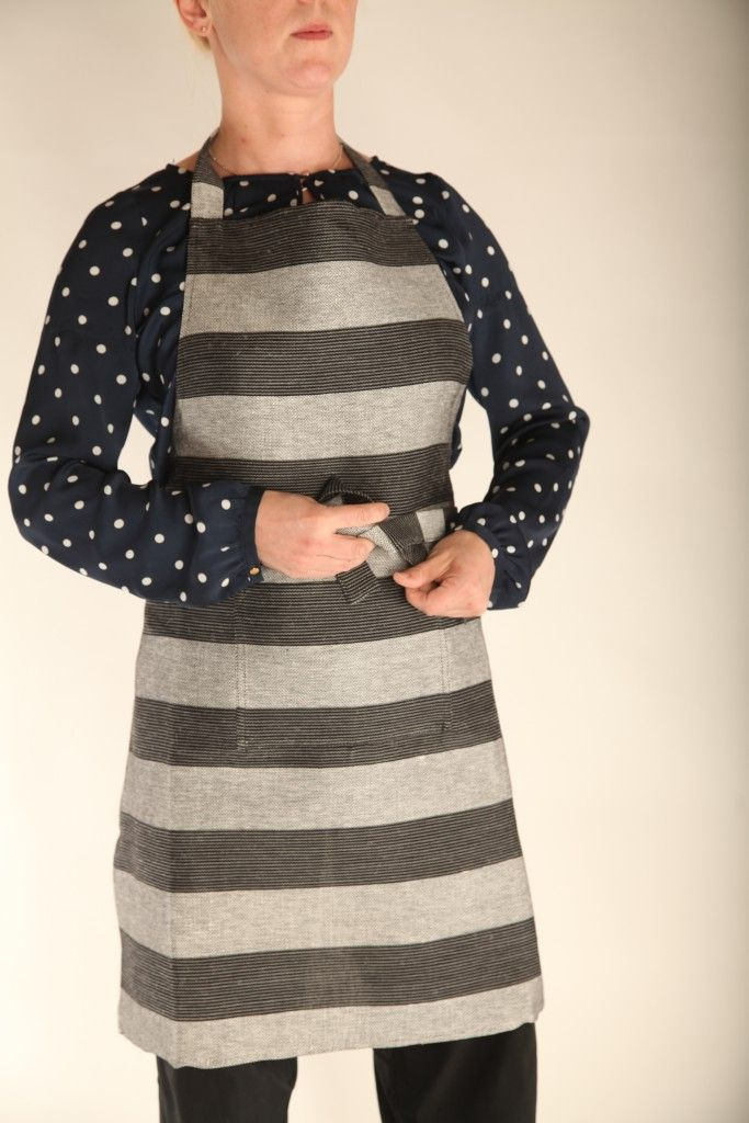 Pisadesign förkläde, linne