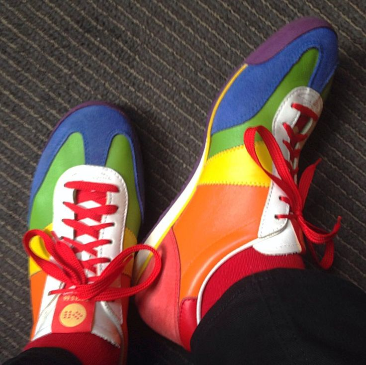 """RAINBOW """" The only appropriate footwear when tracking down objects for the #MuseumRainbow."""" - via markbschlemmer on Instagram. #MuseumRainbow"""