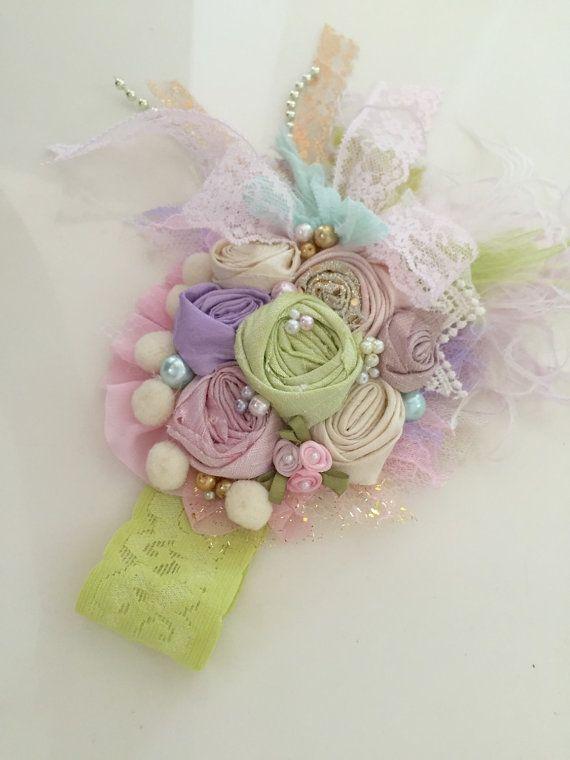 Melon Sherbert-Hello Lovely Headband-Baby Girl Headband-Pink Flower Girl Headband-Headband-Headband-Photo Prop