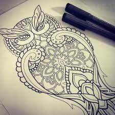 mandala owl tattoo - Google zoeken