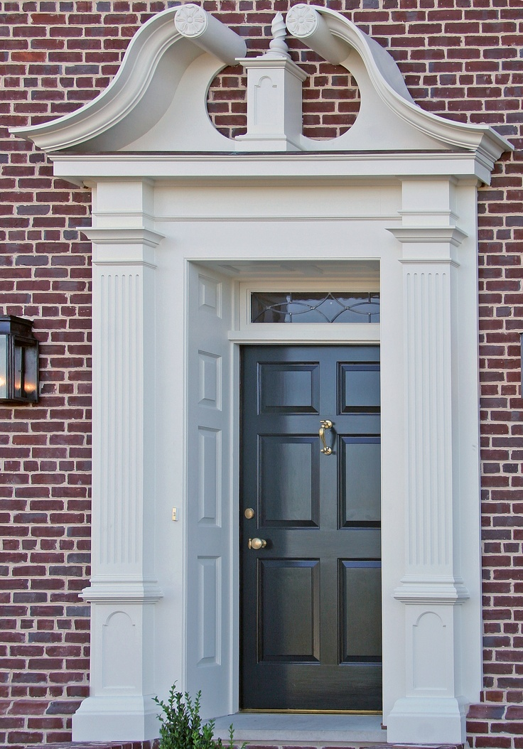 Broken pediment pilasters curb appeal architecture for Exterior door pediment and pilasters