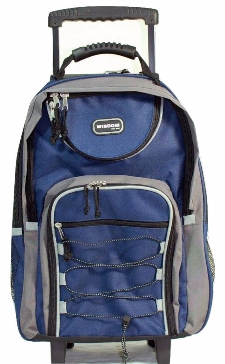 154.59$  Watch here - http://viusu.justgood.pw/vig/item.php?t=lhywp3k40841 - Rolling Backpacks For School Bookbags With Wheels Retractable Handles Large Blue