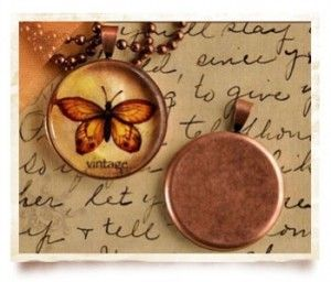 Pendant Trays And Cabochon Settings Tutorial:  Learn the steps to making a necklace!