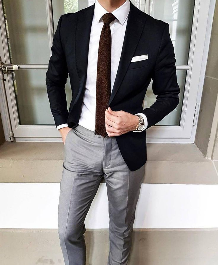 Black Blazer With Grey Trousers Nice But Not Compatible With A