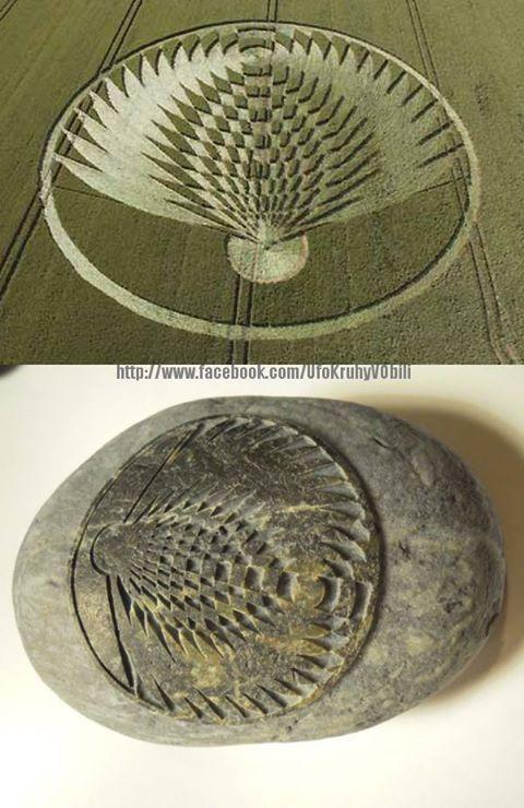 Ancient Rock Has Same Design As Modern Crop Circle.