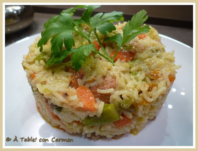 À table ! con Carmen: Arroz al curry con verduras salteadas
