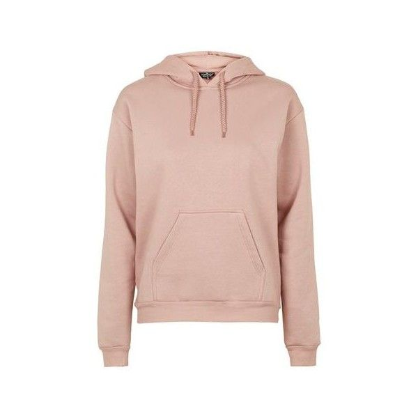 TopShop Tall Clean Oversized Hoodie ($50) ❤ liked on Polyvore featuring tops, hoodies, nude, sweatshirt hoodies, tall hoodie, pink hooded sweatshirt, tall hooded sweatshirt and hooded sweatshirt