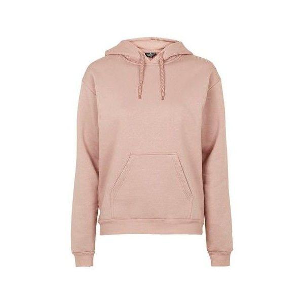TopShop Tall Clean Oversized Hoodie ($50) ❤ liked on Polyvore featuring tops, hoodies, nude, sweatshirt hoodies, tall hoodie, pink hooded sweatshirt, tall hooded sweatshirt and hooded sweatshirt