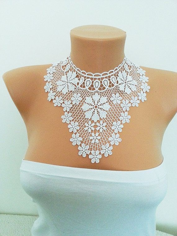 FREE SHIPPING Lux Special White Lace by ArtofAccessory on Etsy, $65.00