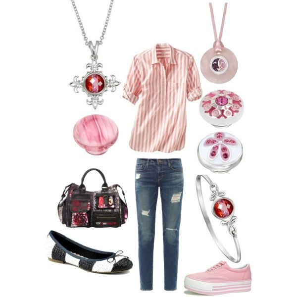 Kameleon Jewelry and Jewel Pops with Weekend Wear Updated by fragrant on Polyvore featuring Gap, Frame Denim, Sperry Top-Sider, Desigual and LOTTA